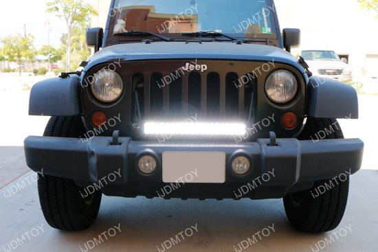 20 120w high power led light bar kit for jeep wrangler jk jeep wrangler front grille led light bar mozeypictures Images