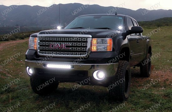 100w lower bumper led light bar for gmc 1500 2500hd 3500hd
