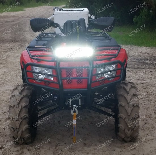 72w high power led light bar with mount bracket for atv utv atv utv 72w led light bar aloadofball