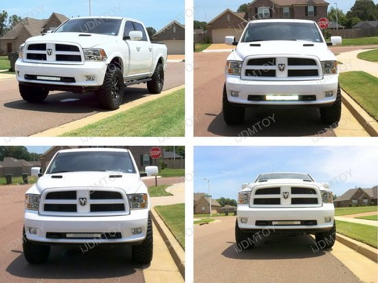 120w White Amber Strobe Led Light Bar Dodge Ram 3500 2500