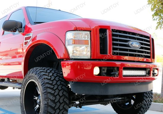 Ford F Strobe Led Light Bar on Relay Switch With Led Light Bar