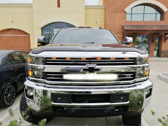 Chevy Silverado Behind Grille LED Light Bar