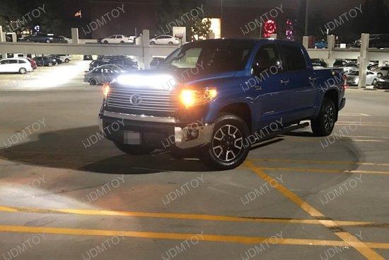 2014 Up Toyota Tundra 108w Cree Led Light Bar With Hood