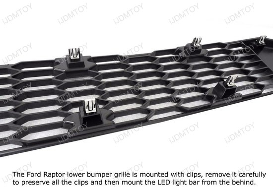 Ford Raptor Behind Grille LED Light Bar