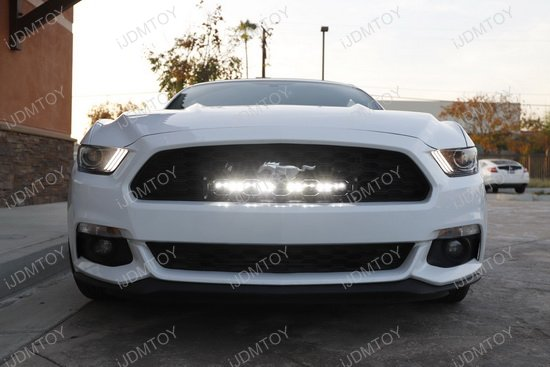 15 Up Ford Mustang 20 Quot Led Light Bar W Behind Grill Mount