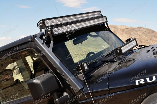 2pcs 50 480w high power led light bars for jeep wrangler jk jeep wrangler led light bar kit aloadofball Choice Image