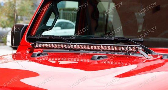 Jeep Wrangler JL Hood Mount LED Light Bar