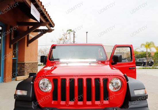Jeep Wrangler JL Hood Mount LED Light Bar