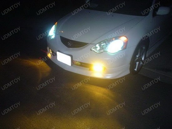 Selective Yellow 80W CREE LED replacement bulbs for fog lights