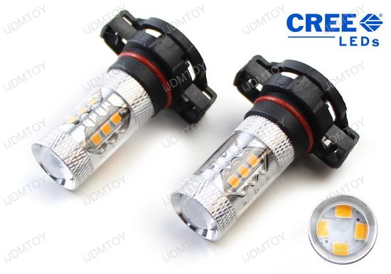 Selective Yellow 3000K CREE 5202 2504 PSX26W 9006 H16 LED replacement bulbs