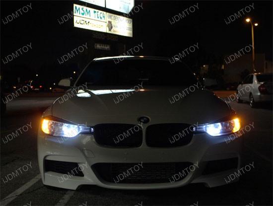 2x White 7 5w High Power Pw24w Led Bulbs For Bmw F30 3