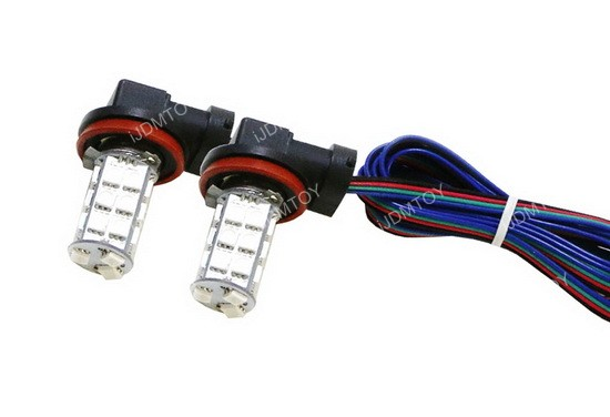 iJDMTOY RGB LED Fog Light Replacement