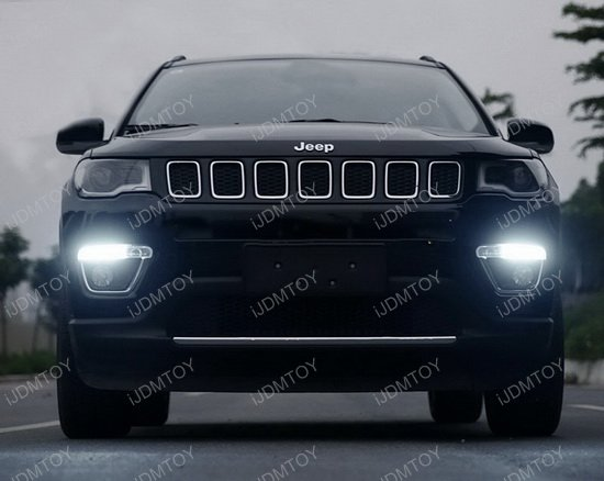 white led daytime running light bulbs for 2017 up jeep compass. Black Bedroom Furniture Sets. Home Design Ideas