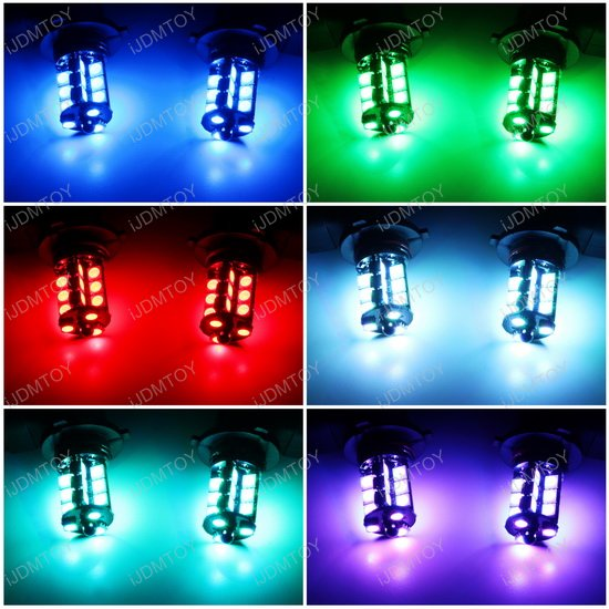 Remote RGB LED Fog Light Bulbs