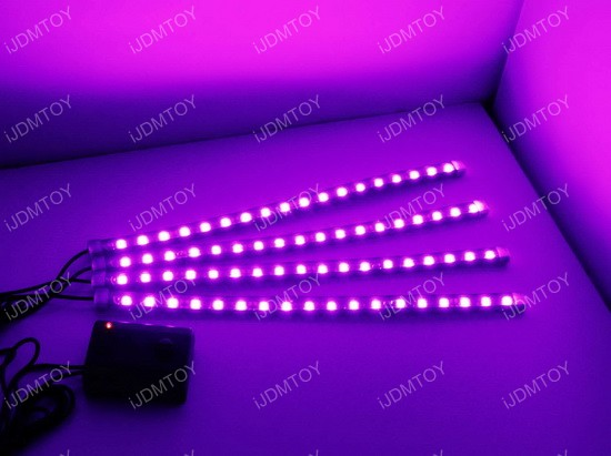 Sound Active LED Car Interior Lighting Kit
