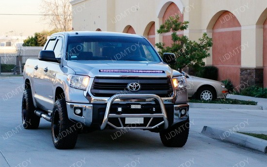 Toyota Tundra Center Grille Hood Bulge LED Strip