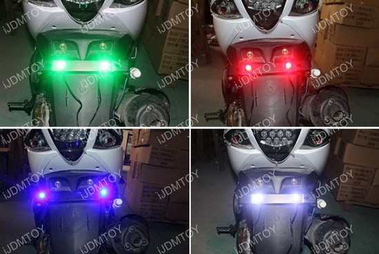 7-Color RGB LED Eagle Eye Lighting Kit for Motorcycle Bike