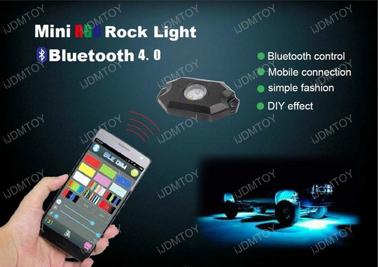 RGB CREE LED Rock Light Kit