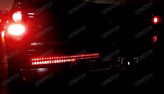 60 trunk tailgate red white led light bar for reverse brake turn four functions backup brake lights and turn signal lights aloadofball Choice Image