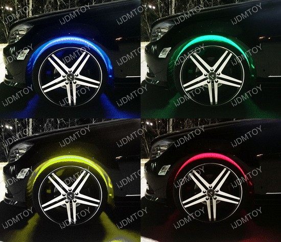 7-Color LED Wheel Well Light