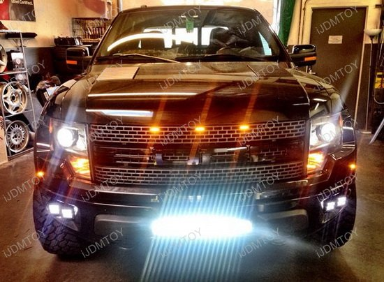 Ford Raptor Quad Led Fog Light System High Power Led