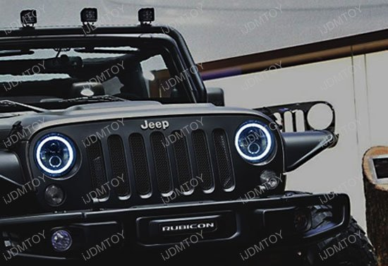 Jeep Wrangler Cj 40w High Power Cree 7 Inch Round Led Headlights