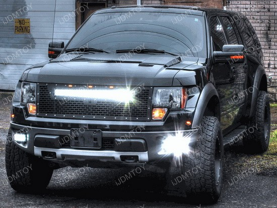 ford raptor quad led fog light system high power led. Black Bedroom Furniture Sets. Home Design Ideas