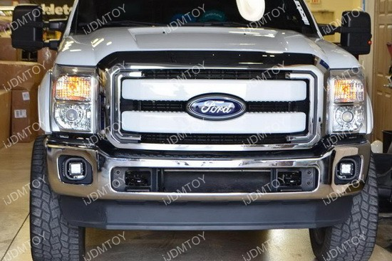 Ford F250 LED Fog Light 13 ford f250 f350 f450 40w cree high power led bumper light kit ford f250 fog light wiring harness at gsmx.co