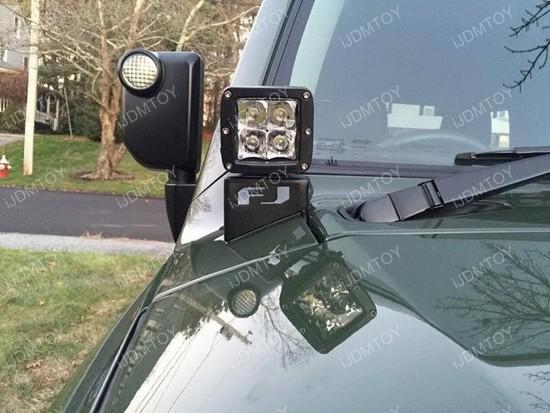 Toyota Fj Cruiser 40w Cree Led Cowl Lighting Kit W Bracket