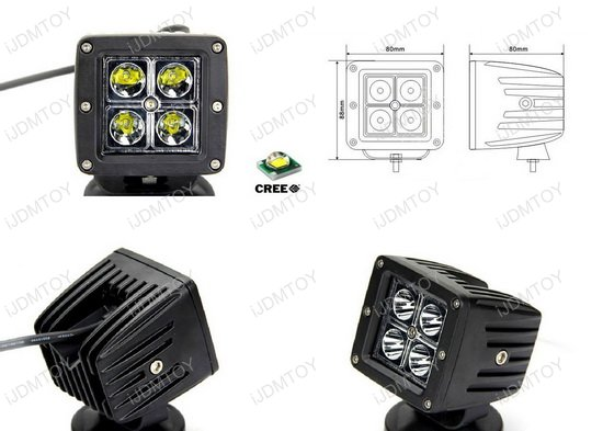 X-Clamp Mount 20W LED Pod Light Kit