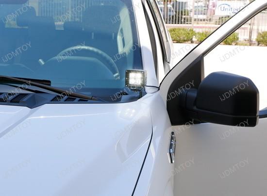 Dodge RAM Ford F150 F250 F350 SuperDuty Toyota Tundra 40W High Power CREE LED Pod Light Kit