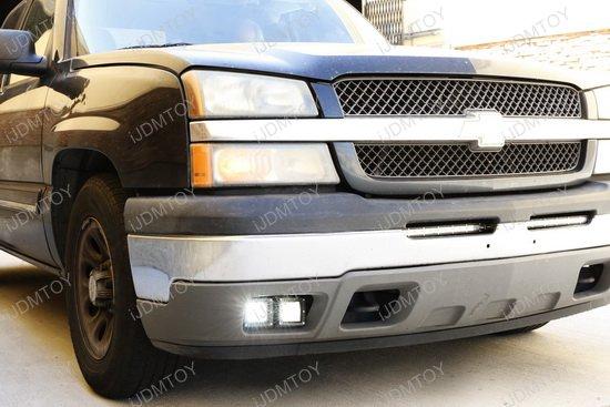 Dual Led Fog Light Kit For Chevrolet Avalanche Silverado