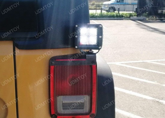 Jeep Wrangler Tail Light Mount LED