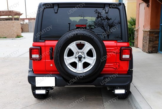 Dual Led Light Bars W Rear Bumper Mount Wiring For Jeep