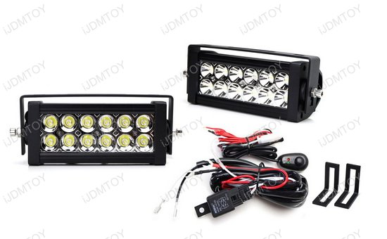 dual led light bars w  rear bumper mount  wiring for 15