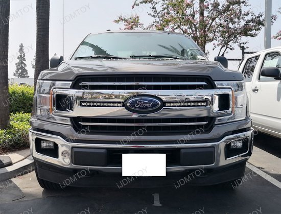72w Cree Led Front Grille Light Bar Kit For 18 Up Ford F