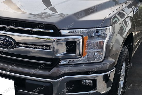 cree led front grille light bar kit    ford   xl xlt