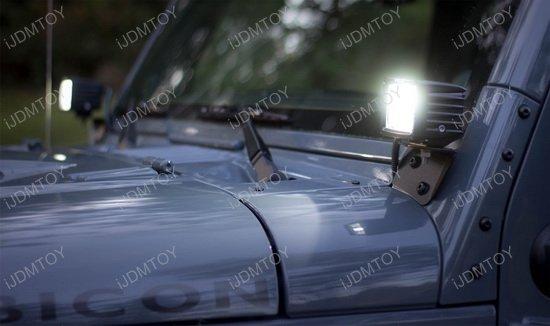 Jeep Wrangler TJ JK LED A-Pillar Lights