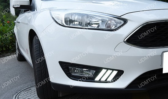 2015 and up Ford Focus Mustang Style LED Daytime Running Lights