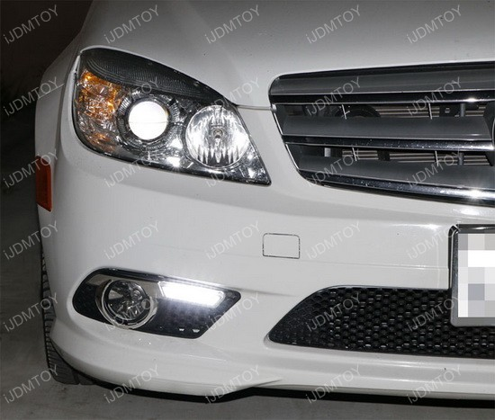 High Power LED Daytime Running Lights For Mercedes W204 C-Class
