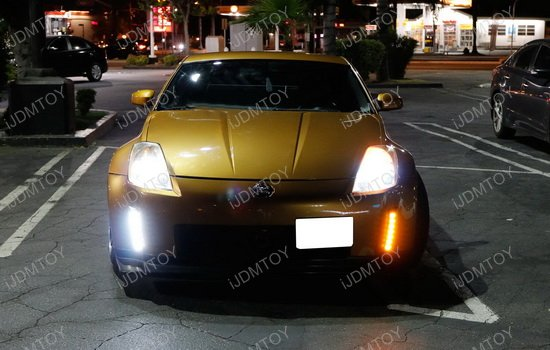 Nissan 350Z Switchback LED Daytime Running Light 14 2003 2005 nissan 350z led daytime running lights led reflectors  at gsmportal.co