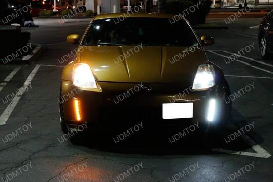 Nissan 350Z Switchback LED Daytime Running Light 15 clearance 2003 2005 nissan 350z led daytime running lights led  at gsmportal.co