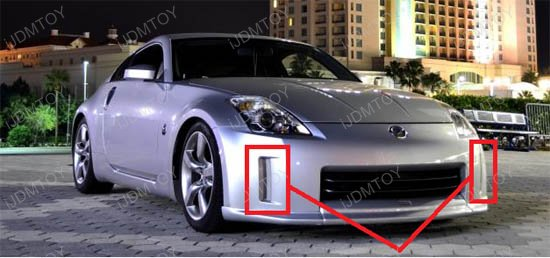 Nissan 350z Direct Fit Led Daytime Running Lights