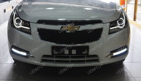 Chevy Cruze LED Daytime Running Lights 06 chevrolet cruze switchback oem fit led daytime running light kit 2011 chevy cruze headlight wiring harness at webbmarketing.co