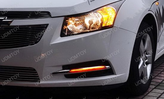 Chevy Cruze LED Daytime Running Lights 11 chevrolet cruze switchback oem fit led daytime running light kit 2011 chevy cruze headlight wiring harness at webbmarketing.co