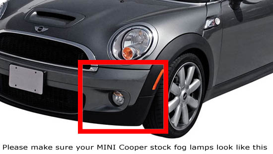 oem fit mini cooper 15w led daytime running lights fog. Black Bedroom Furniture Sets. Home Design Ideas