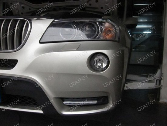 Bolt-On High Power LED Daytime Running Lights For 2011-2014 BMW X3