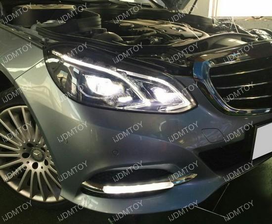 High Power Switchback LED Daytime Running Lights For Mercedes E Class & Mercedes W212 Facelift E-Class Sedan LED Daytime Running Lights azcodes.com
