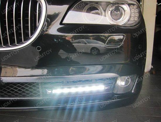 Bolt-On High Power LED Daytime Running Lights For BMW F01 7 Series