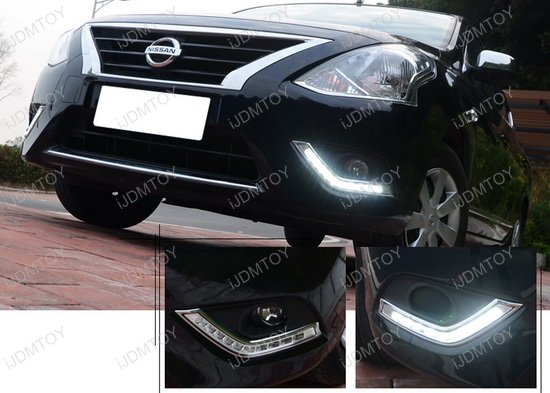 2015 up nissan versa sedan high power led drl lights